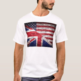 American and British flag. T-Shirt