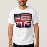 American and British flag. Tee Shirt