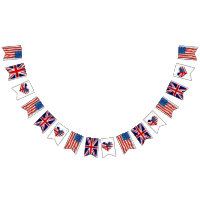 American and British flags, Royal Wedding Bunting Flags