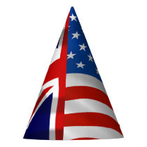 American and British flags,  Royal Wedding Party Hat