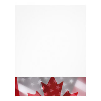 American and Canadian flags flyer