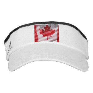 American and Canadian flags Headsweats Visor