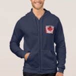 American and Canadian flags men AA zip hoodie