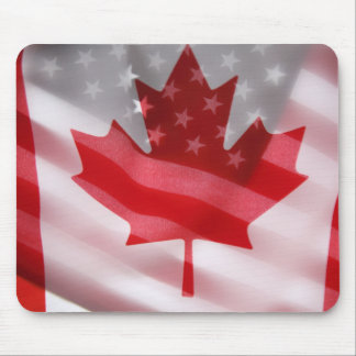 American and Canadian flags mouspad Mouse Pad