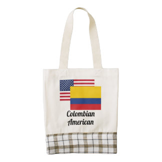 American And Colombian Flag Zazzle HEART Tote Bag