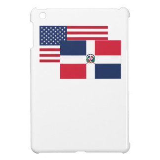 American And Dominican Flag Cover For The iPad Mini