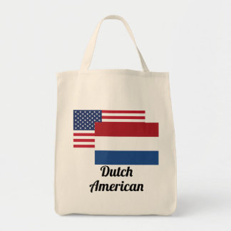American And Dutch Flag Tote Bag