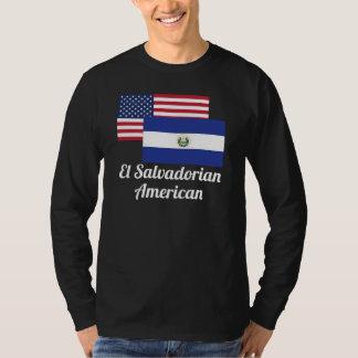 American And El Salvadorian Flag Shirt