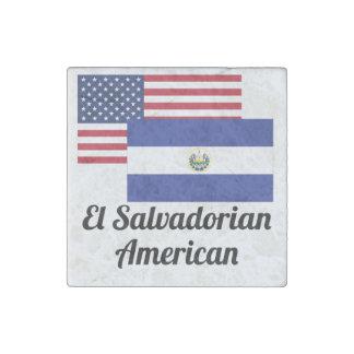 American And El Salvadorian Flag Stone Magnet