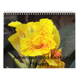American and Exotic Flowers Calendar
