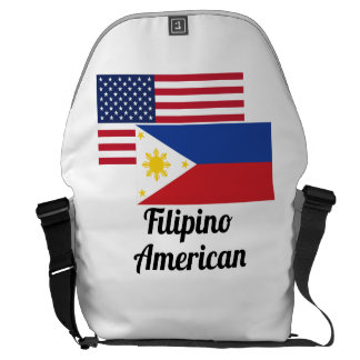 American And Filipino Flag Courier Bag