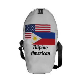 American And Filipino Flag Messenger Bag