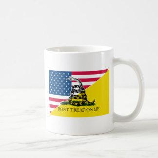 American and Gadsden Flag Coffee Mug