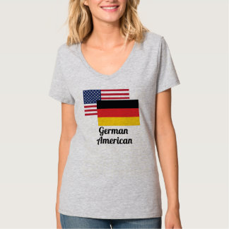 American And German Flag T-Shirt