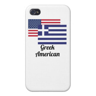 American And Greek Flag iPhone 4 Cover