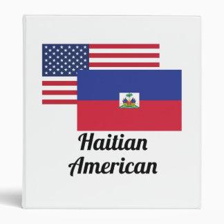 American And Haitian Flag Binder