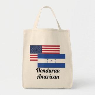American And Honduran Flag Tote Bag