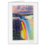 American and Horseshoe Falls at Dusk Card