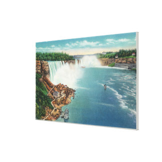 American and Horseshoe Falls Canvas Print