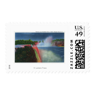 American and Horseshoe Falls Illuminated Stamps