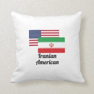 American And Iranian Flag Pillow