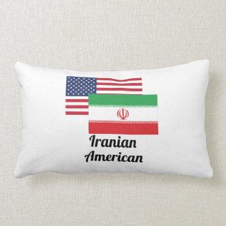 American And Iranian Flag Throw Pillow