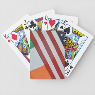 American and Irish Flags Bicycle Playing Cards