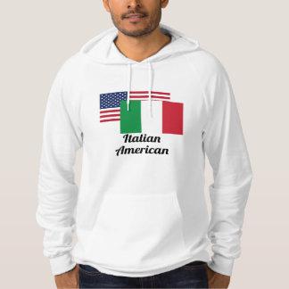 American And Italian Flag Hoodie