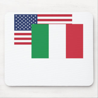 American And Italian Flag Mouse Pad