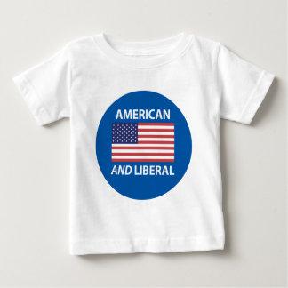 American AND Liberal Patriotic Flag Design Baby T-Shirt