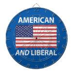 American AND Liberal Patriotic Flag Design Dartboards