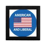 American AND Liberal Patriotic Flag Design Keepsake Box