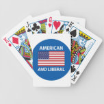 American AND Liberal Patriotic Flag Design Poker Deck