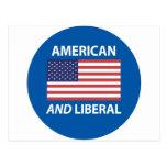 American AND Liberal Patriotic Flag Design Post Cards
