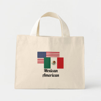 American And Mexican Flag Mini Tote Bag