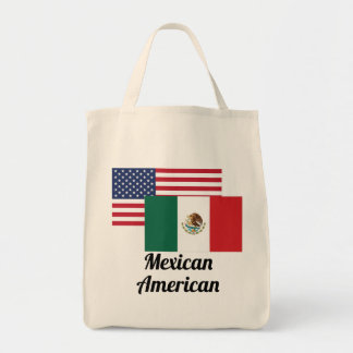 American And Mexican Flag Tote Bag