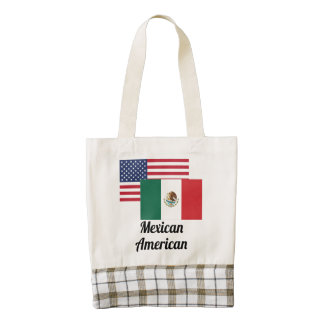 American And Mexican Flag Zazzle HEART Tote Bag