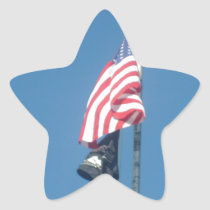 American and POW/MIA Flags Star Sticker
