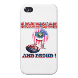 American and proud Furrkie Furry iPhone 4/4S Cases