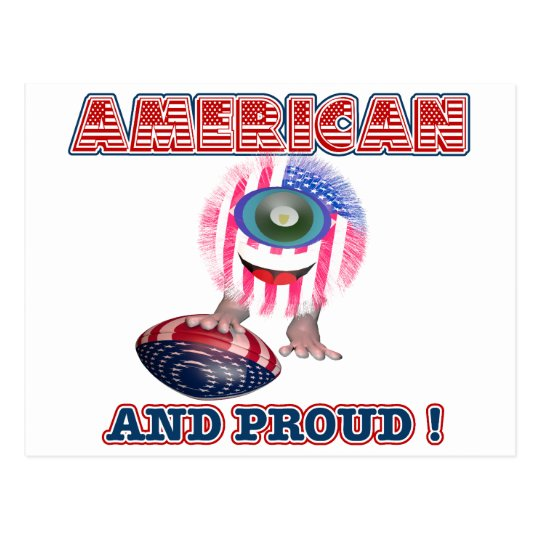 American and proud Furrkie Furry Postcard