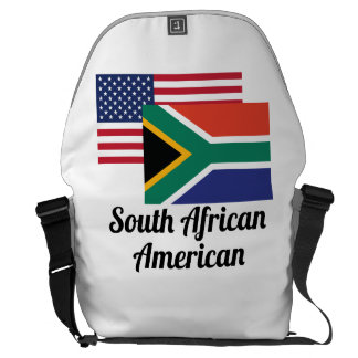 American And South African Flag Courier Bag