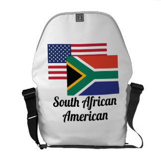 American And South African Flag Messenger Bag