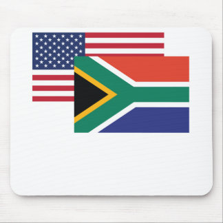 American And South African Flag Mouse Pad