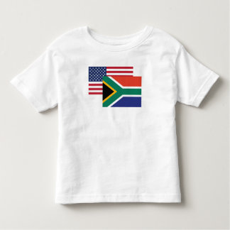 American And South African Flag Toddler T-shirt