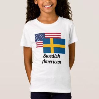 American And Swedish Flag T-Shirt