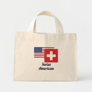 American And Swiss Flag Mini Tote Bag