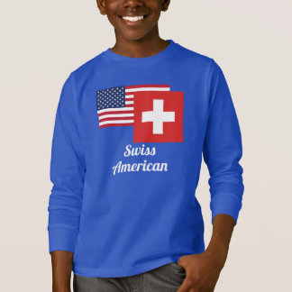American And Swiss Flag T-Shirt