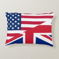 Great American And Union Jack Flag Accent Pillow Gallery