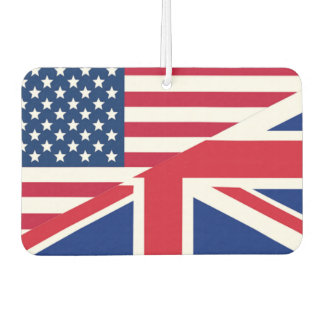American and Union Jack Flag Air Freshener