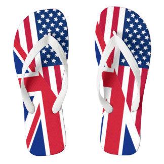 c5fa3b5d025974 American and Union Jack Flag Flip Flops
